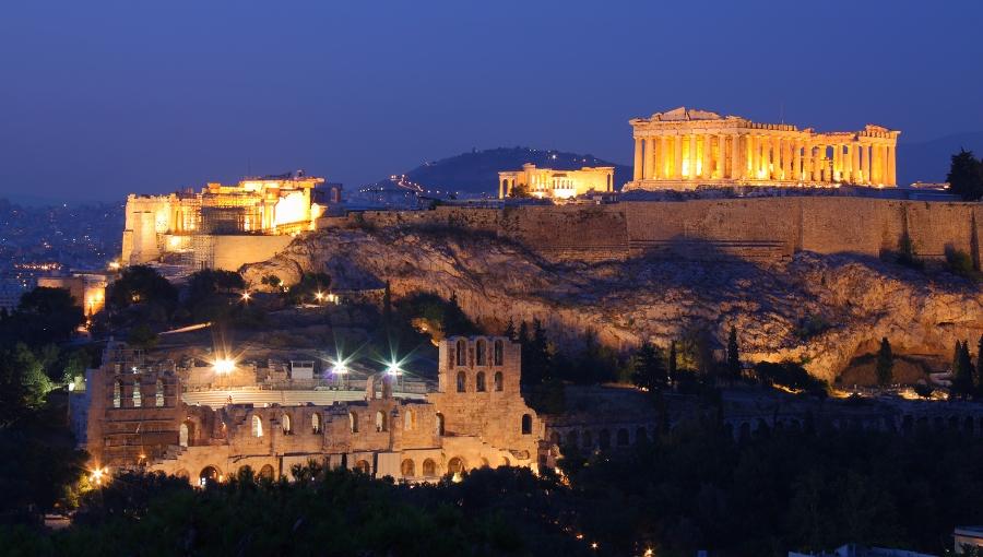 Парфенон на вершине Акрополя - Самые красивые места и достопримечательности Греции