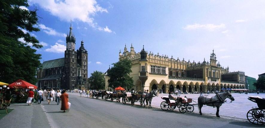 Рынок в Кракове