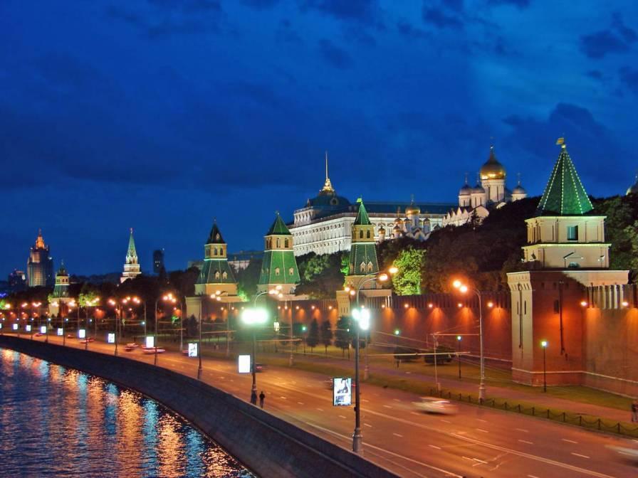 Московский Кремль - самые красивые места России