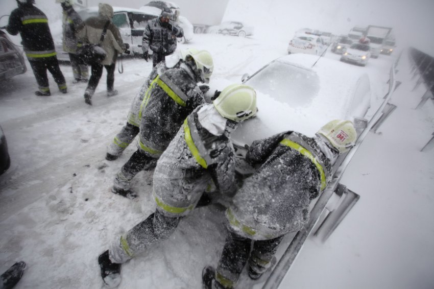 Зимний хаос в Венгрии