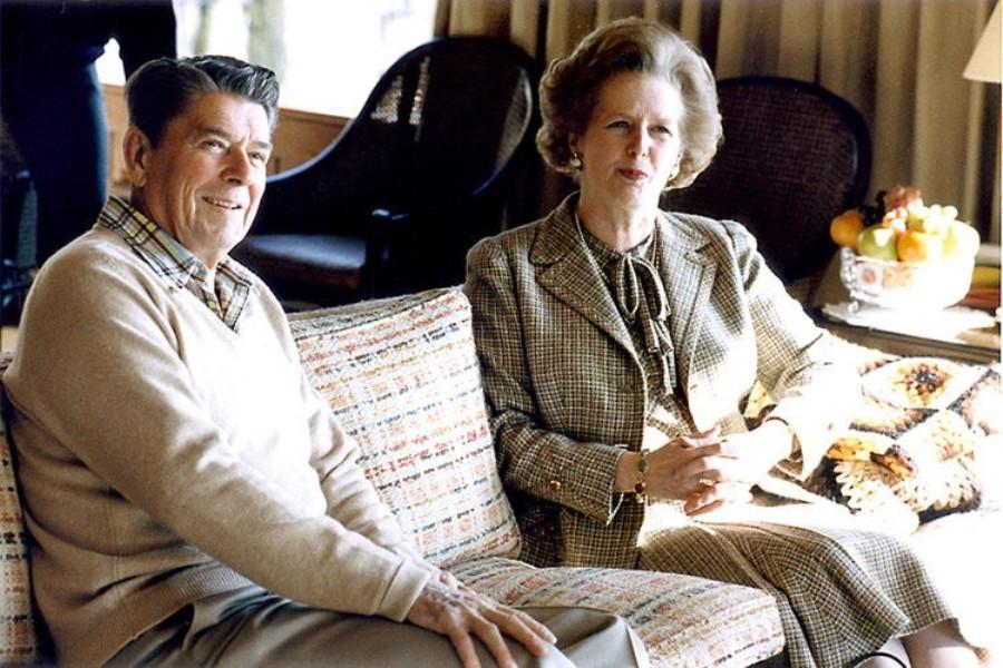 С президентом США Рональдом Рейганом, 1984 г