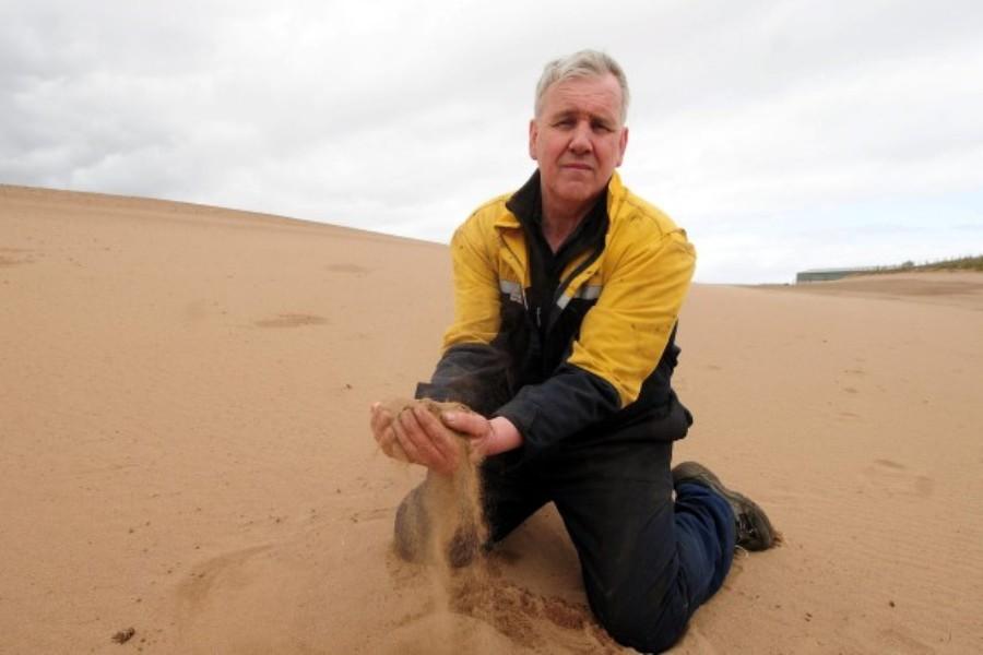 Песчаная буря в Шотландии