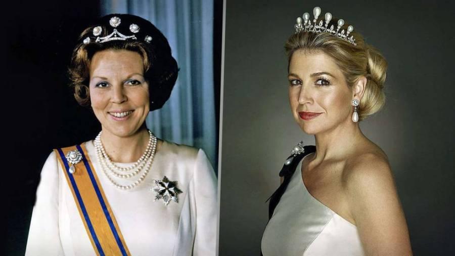 Королева Беатрикс и будущая королева Максима