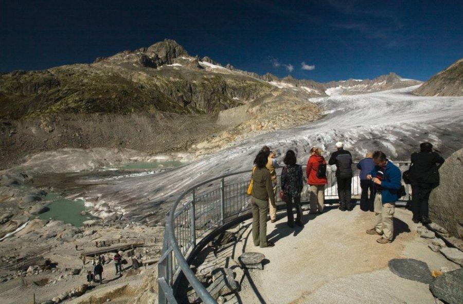 Озера вместо ледников в Альпах