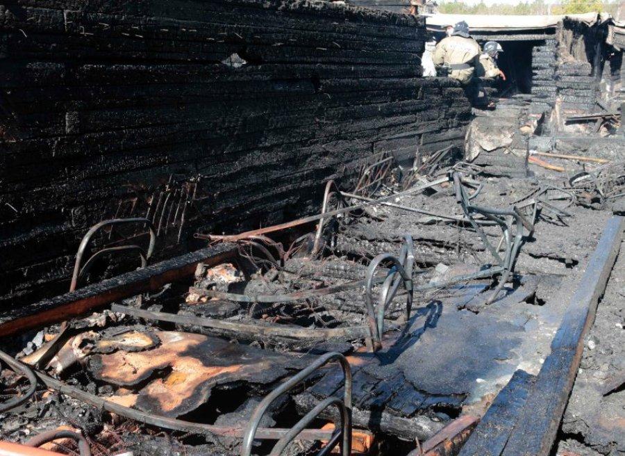 Пожар в поселке Раменский