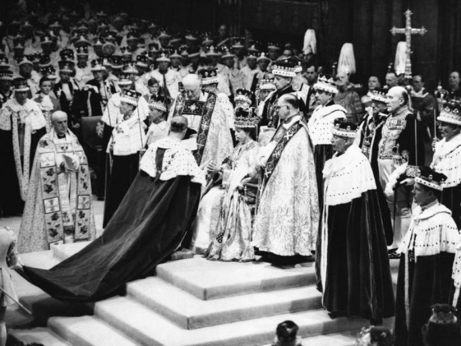 Коронация Елизаветы в 1953 г.