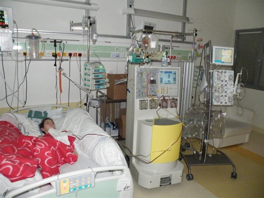 В июле 2012 года Катерину подсоединили к всевозможному медицинскому оборудованию
