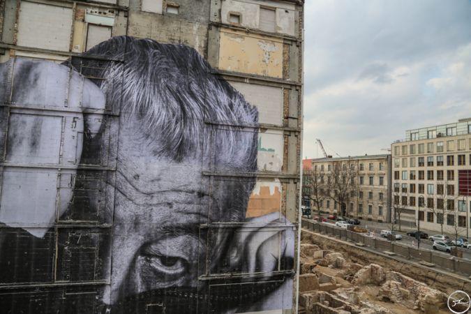 Стрит Арт - Морщины города в Берлине
