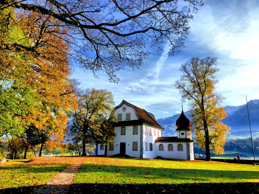 Город Зарнен в Швейцарии