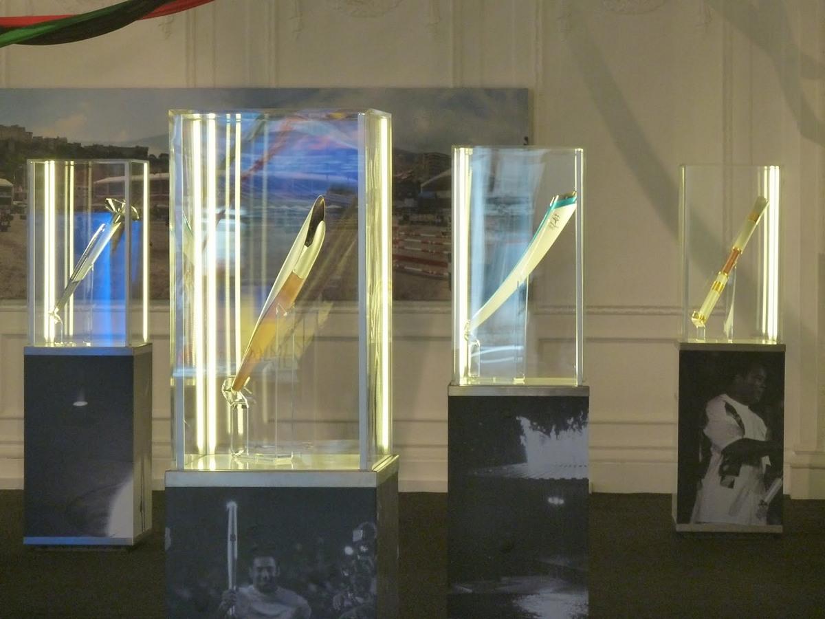 личная коллекция олимпийских факелов Князя Монако Альберта II