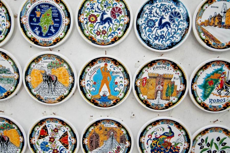 Сувенирные тарелки -Родос