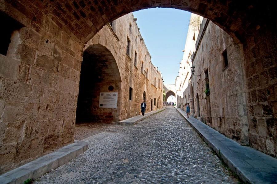 Улица рыцарей старого города Родос. Родос достопримечательности