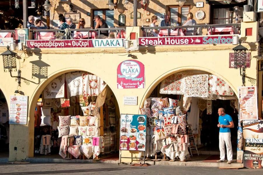 На площади Иппократос города Родос. Родос достопримечательности