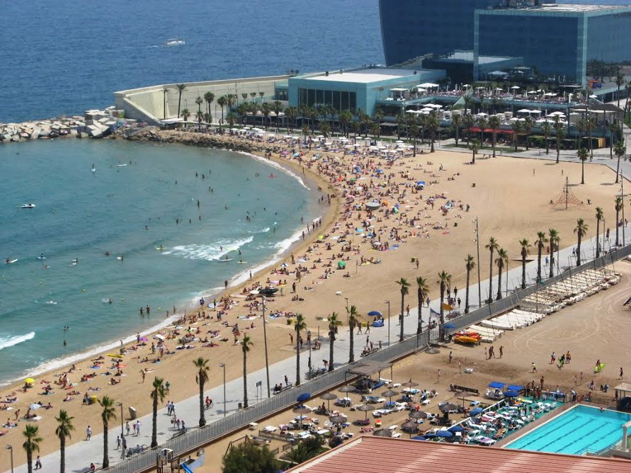 пляж La Barceloneta