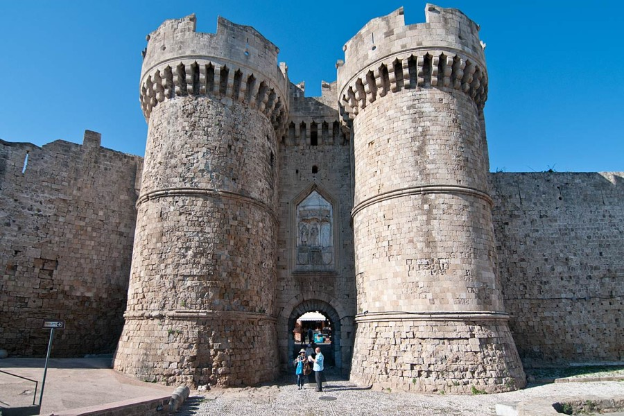 Ворота в старый город Родос - Морские. Родос достопримечательности