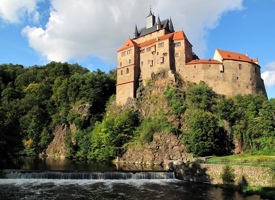 Замки Германии.  Замок Крибштайн - Burg Kriebstein