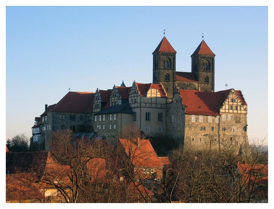 Замки Германии. Кведлинбургский замок - Schloss Quedlinburg