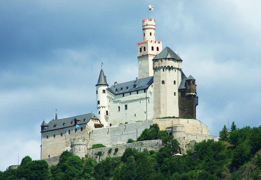 Замки Германии - Замок Марксбург - Burg Marksburg