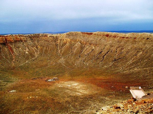 Метериоритный кратер в США