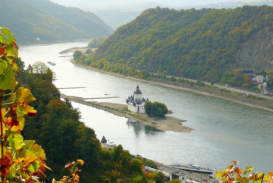 Замки Германии. Замок Пфальцграфенштайн - Burg Pfalzgrafenstein