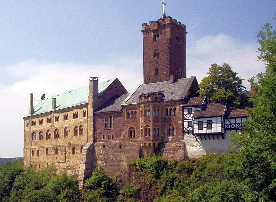 Замки Германии.  Замок Вартбург - Wartburg