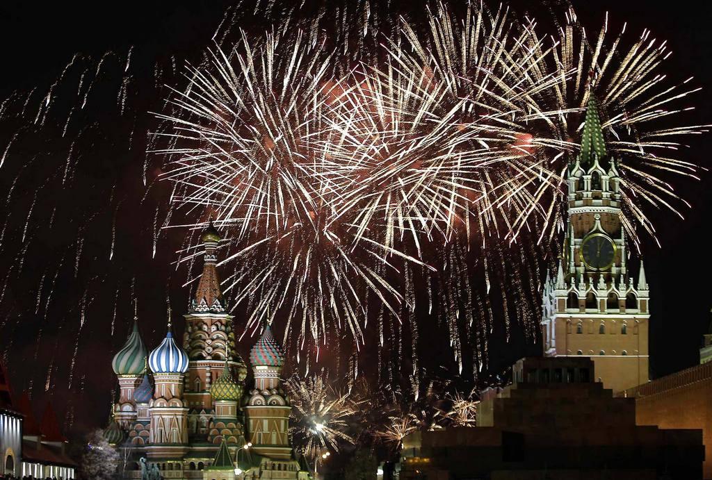 Новогодний фейерверк в Москве. Новый год 2014.