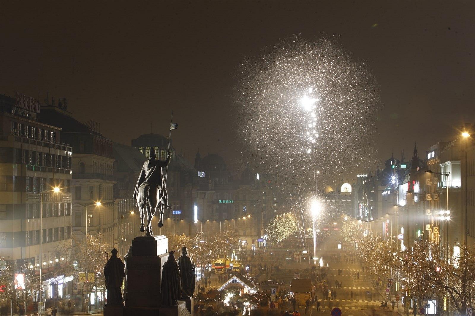 Новый Год в Праге,   Вацлавская площадь