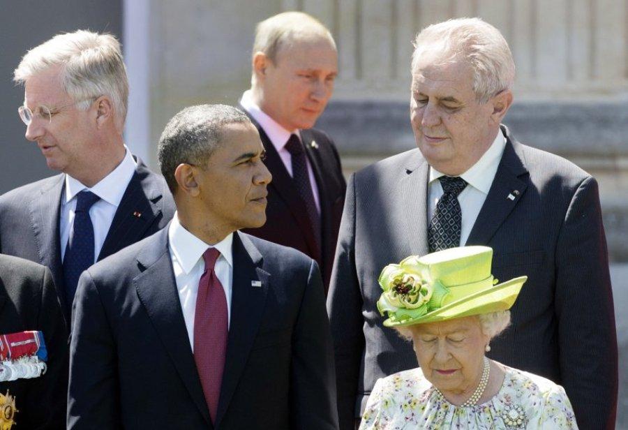 Главы государств и правительств в Нормандии
