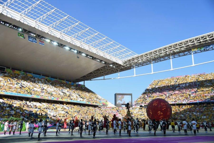 Открытие чемпионата по футболу в Бразилии