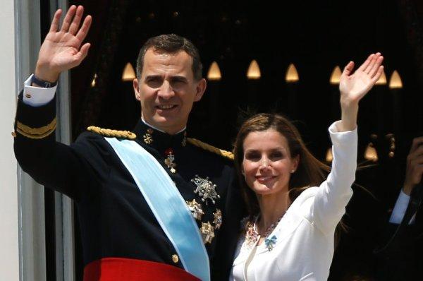 Филипп VI и королева Летиция