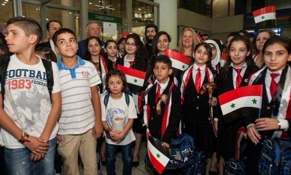 сирийские дети в Москве