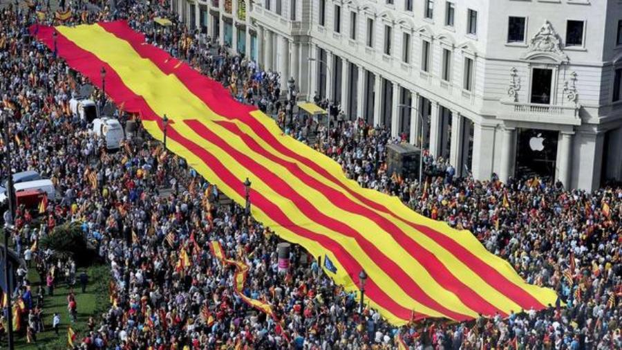 В Барселоне прошла огромная демонстрация каталонцев
