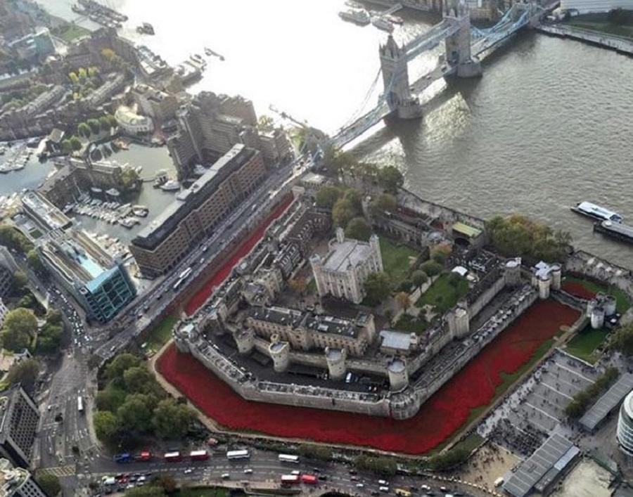 Маковое поле у Лондонского Тауэра