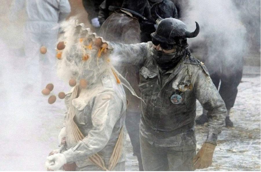 Мучные бои в Испании