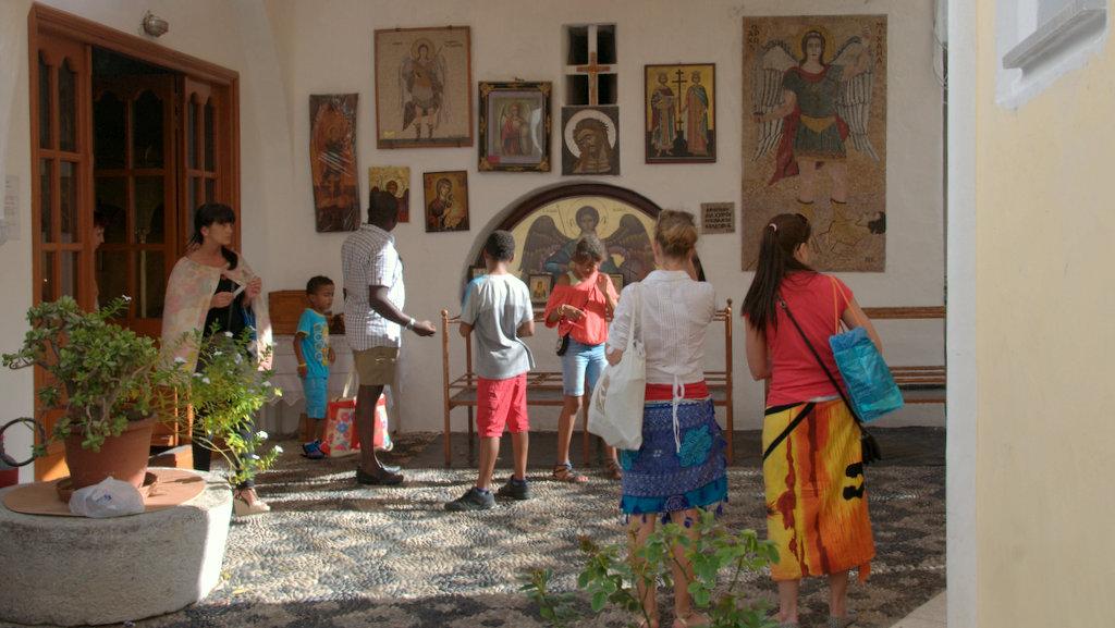 Панормитский монастырь, остров Сими, Греция