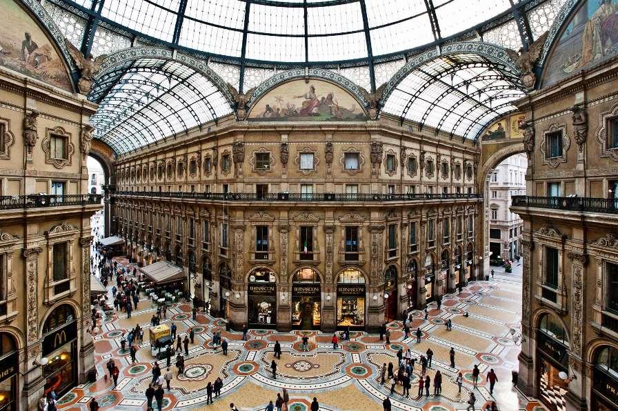 Самые красивые места Италии, галерея Виктора Эммануила II в Милане