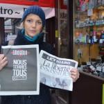 Французы выражают поддержку журналу Charlie Hebdo