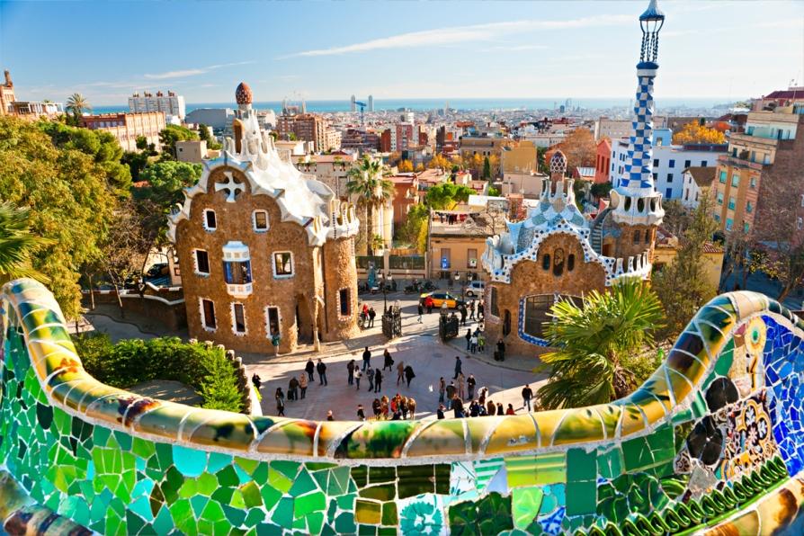 Самые красивые места Испании, парк Гуэль в Барселоне