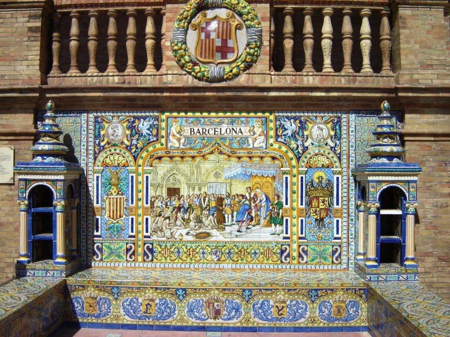 Достопримечательности Испании. Площадь Испании в Севилье