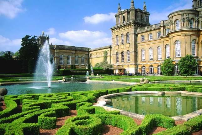 Объекты всемирного наследия ЮНЕСКО, дворец Бленхейм в Великобритании