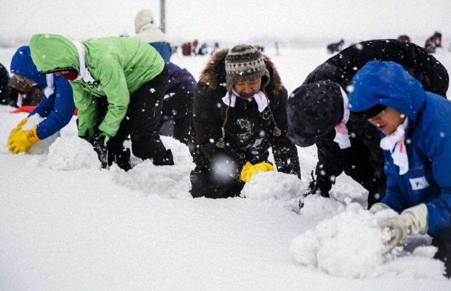 Мировой рекорд по количеству снеговиков