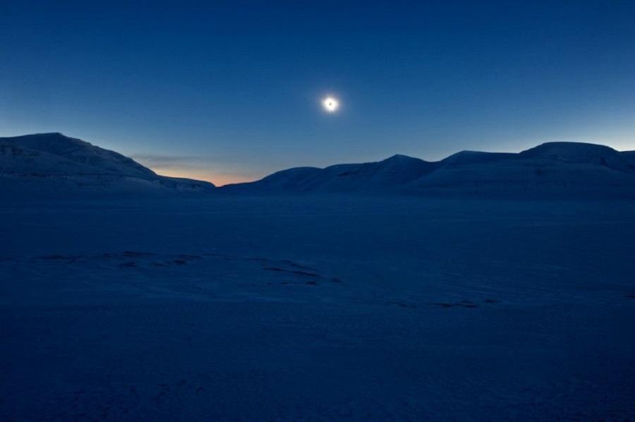 Солнечное затмение на Шпицбергене