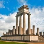 Города Германии. Ксантен, римский храм с колонадой