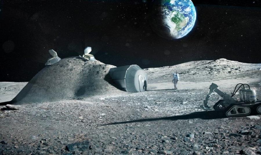 Так может выглядеть база на Луне
