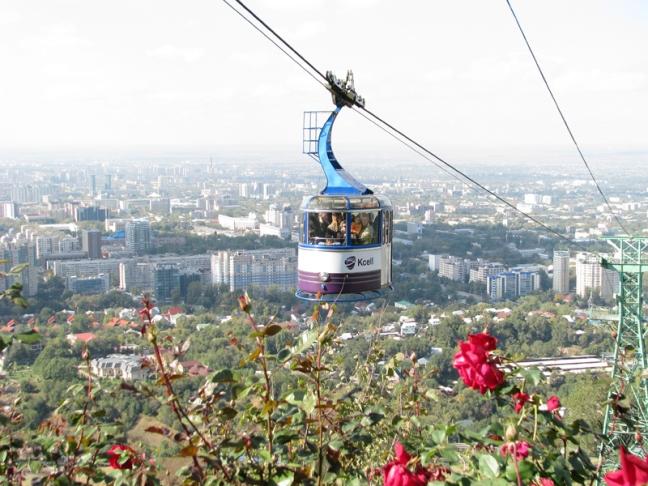 Канатная дорога Кот-Тобе в Алматы