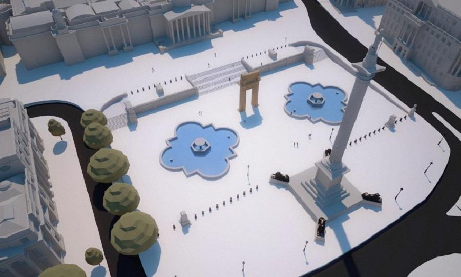 Копия ворот на Трафальгарской площади