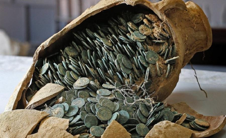 Римские монеты в амфорах