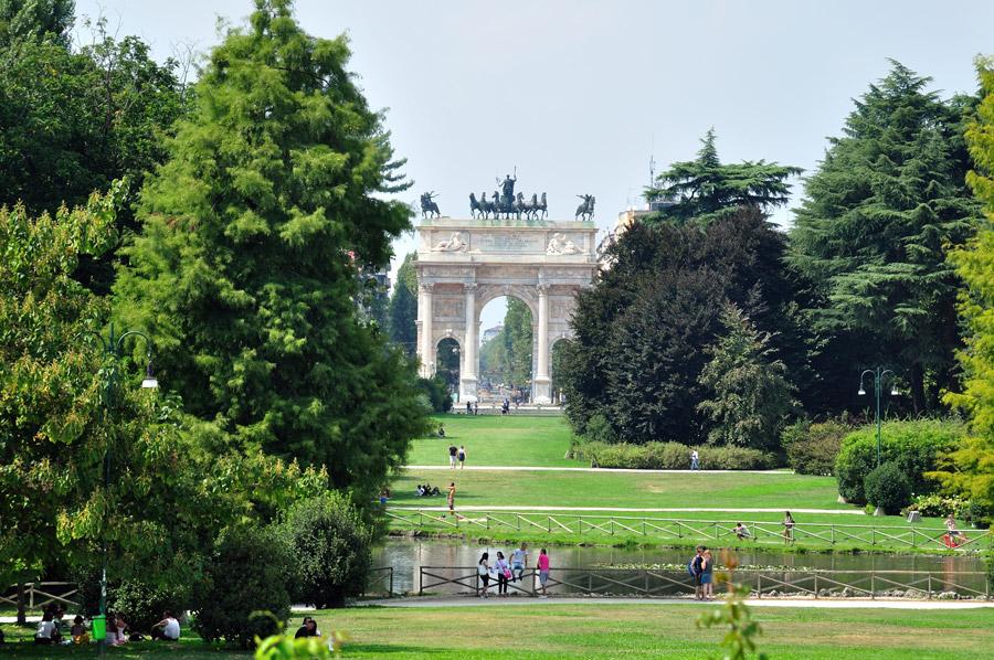 Достопримечательности Италии. Парк Семпионе в Милане