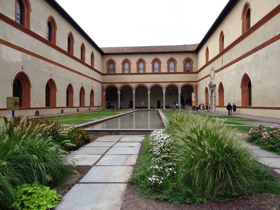 Достопримечательности Италии. Замок Сфорца в Милане