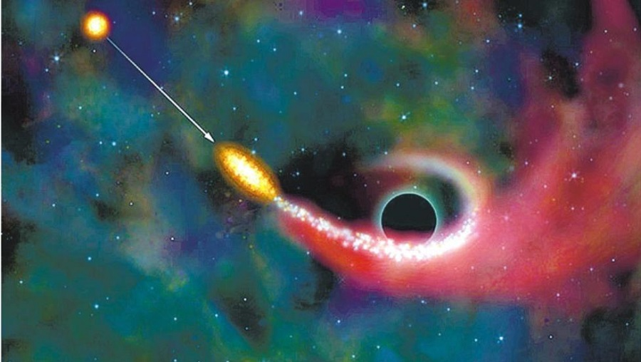 """Черная дыра """"всасывает"""" планету"""